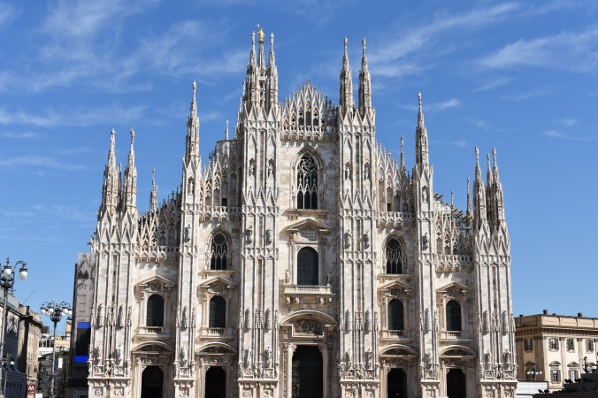 Milan's cathedral in the sunlight